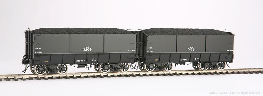 Oスケール セキ3000-石炭車。(商品は1輌単品です)